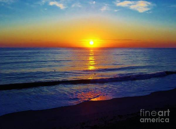 Photograph - Blue And Golden Sunrise by D Hackett