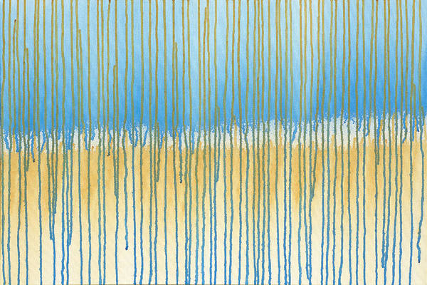 Painting - Blue And Gold by Lynn Hansen