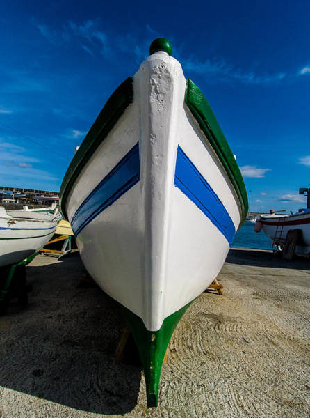 Photograph - Blue And Green Boat by Joseph Amaral