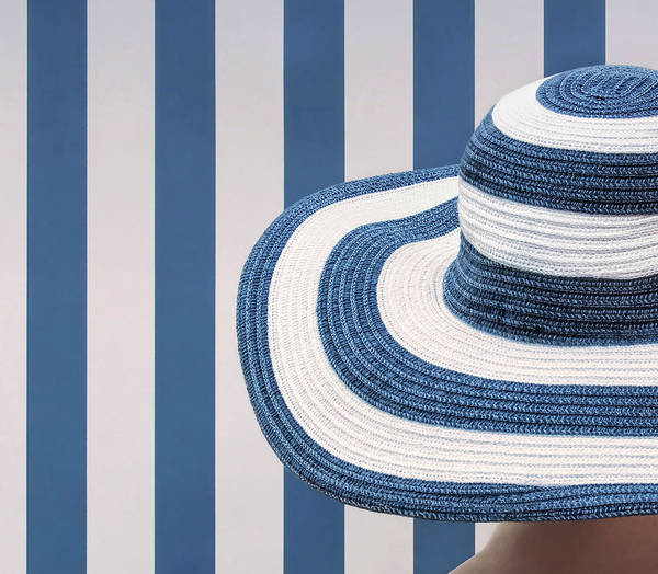 Hats Photograph - Blue And White by Burghard Nitzschmann