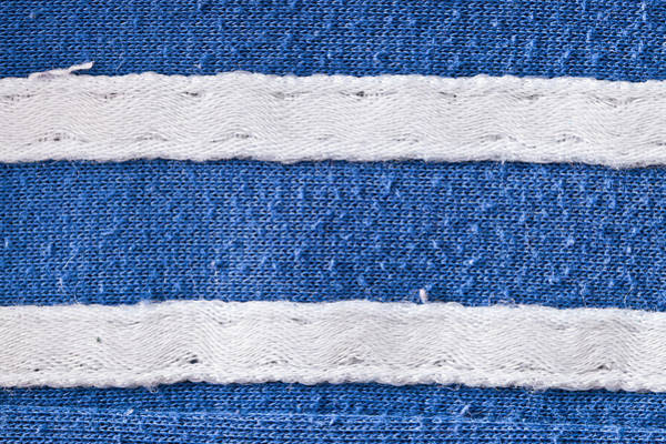 Casual Photograph - Blue And White Fabric by Tom Gowanlock