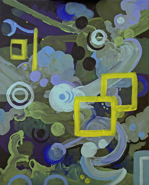 Coolidge Painting - Blue And Yellow Abstract 1 by Sara Coolidge