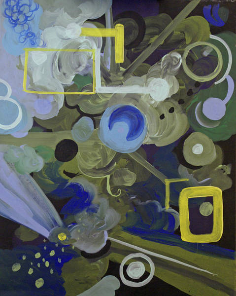 Coolidge Painting - Blue And Yellow Abstract 2 by Sara Coolidge