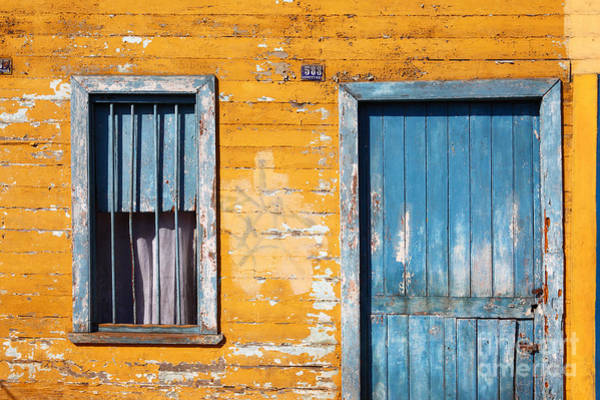 Photograph - Blue And Yellow House by James Brunker