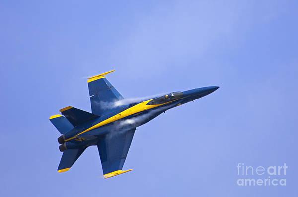 A-18 Hornet Wall Art - Photograph - Blue Angel - D008945 by Daniel Dempster