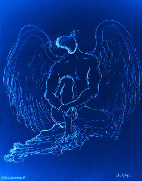 Painting - Blue Angel by Giorgio Tuscani