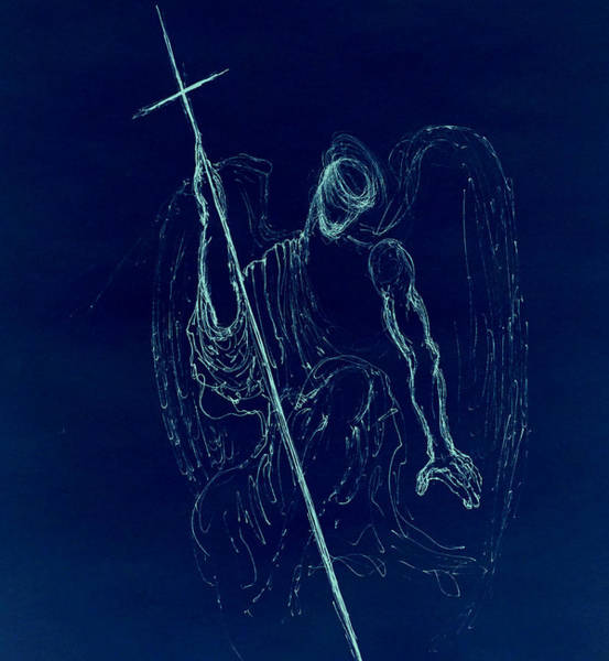 Drawing - Blue Angel Series by Giorgio Tuscani