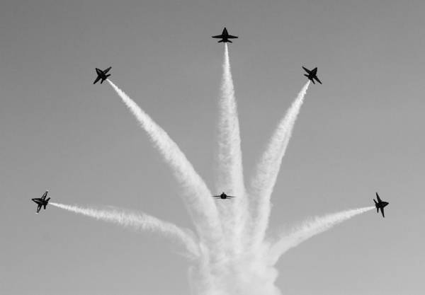 Photograph - Blue Angels Break by Nathan Rupert