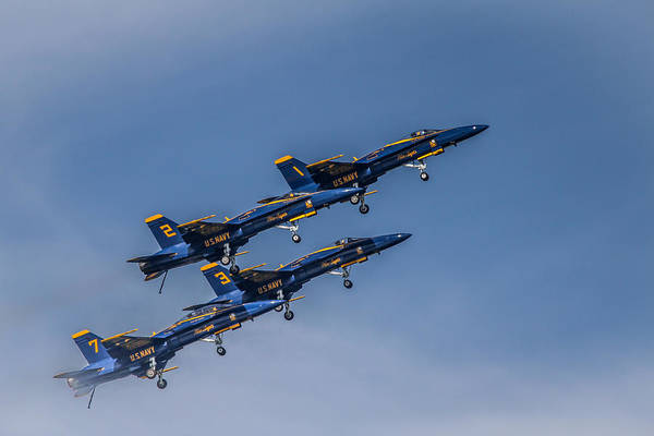 Photograph - Blue Angels Chicago by Eleanor Abramson