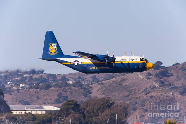Photograph - Blue Angels Fat Albert C130t Hercules At San Francisco Fleet Week 5d29572 by Wingsdomain Art and Photography