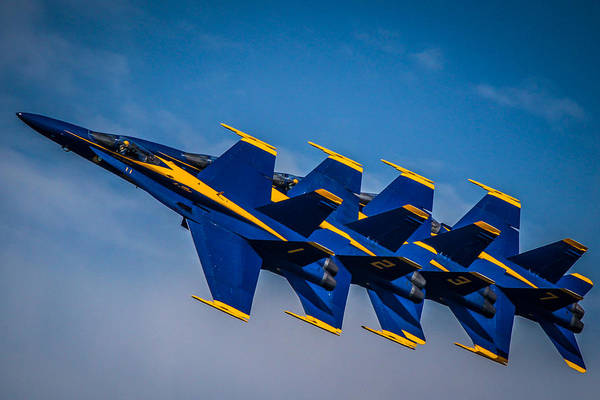 Photograph - Blue Angels Single File by Eleanor Abramson