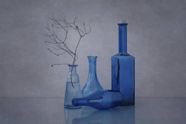 Vases Photograph - Blue by Anna Klinkosz