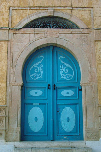 Photograph - Blue Applique Door by Donna Corless