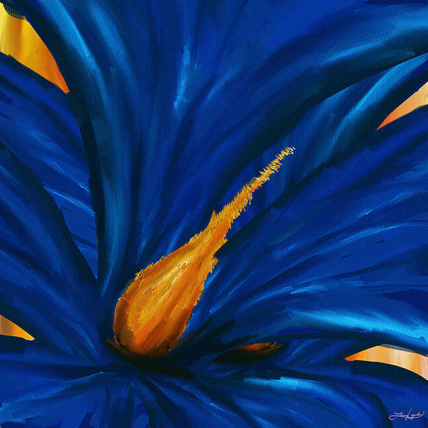 Painting - Blue As Blue- Magnolia Paintings by Lourry Legarde