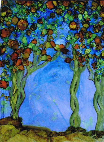Painting - Blue Autumn by Kelly Dallas