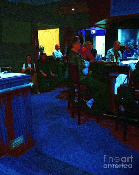 Painting - Blue Bar On A Monday by RC DeWinter