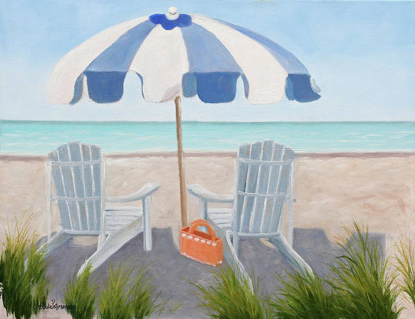 Wall Art - Painting - Blue Beach by Julie Peterson