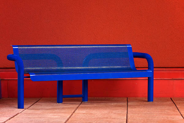 Photograph - Blue Bench by Melinda Ledsome