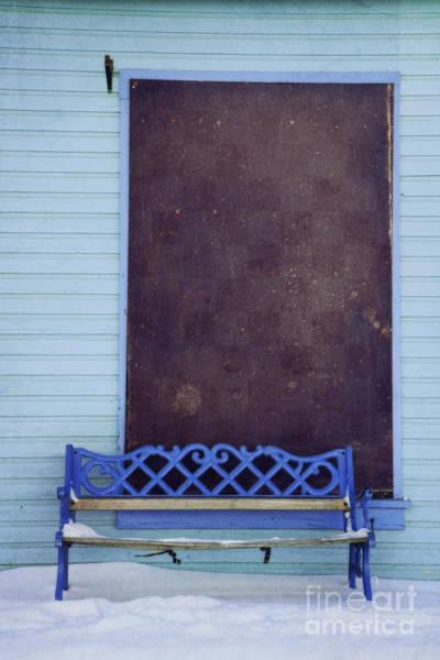 Hue Photograph - Blue Bench by Priska Wettstein