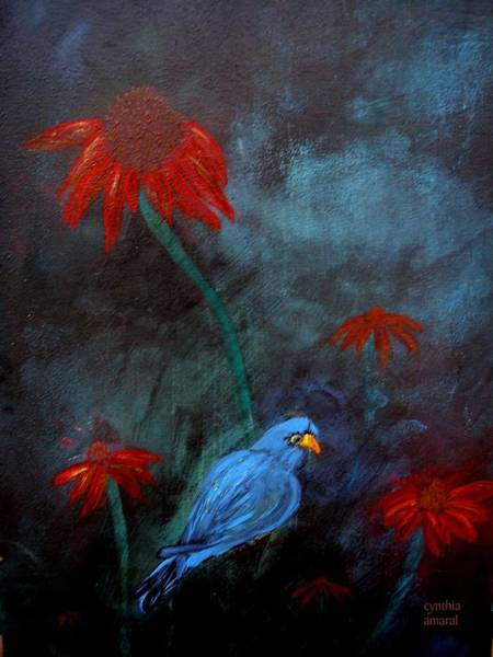 Painting - Blue Bird by Cynthia Amaral