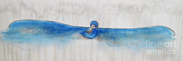Wall Art - Painting - Blue Bird Of Happiness by Carrie Jackson