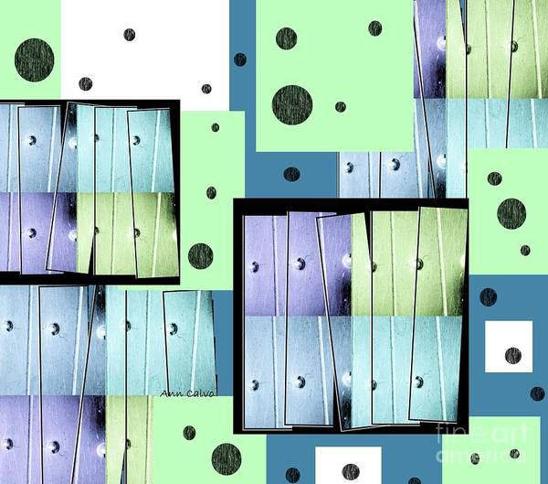 Blitz Digital Art - Blue Blitz by Ann Calvo