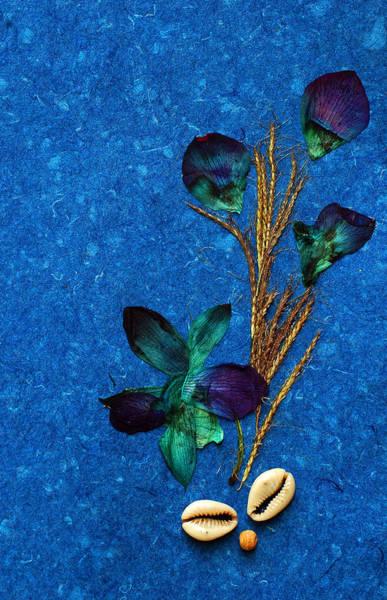 I Phone Case Mixed Media - Blue Blossoms by Shabnam Johry