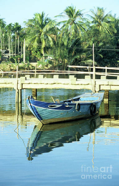 Hoi An Photograph - Blue Boat 02 by Rick Piper Photography