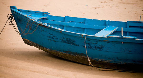 Wall Art - Photograph - Blue Boat by Frank Tschakert