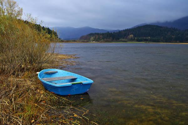 Photograph - Blue Boat by Ivan Slosar