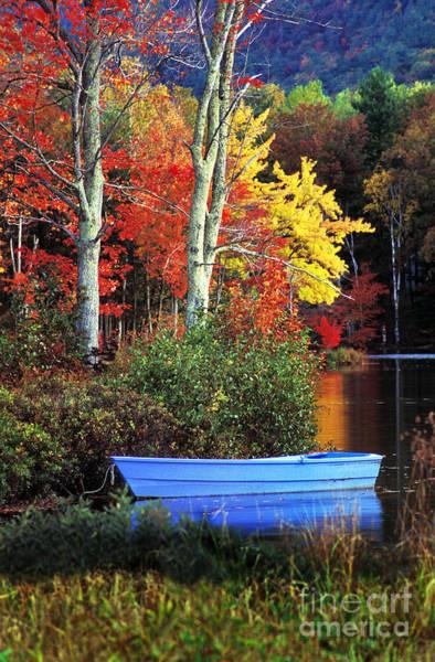 Camden Photograph - Blue Boat by Jim Block