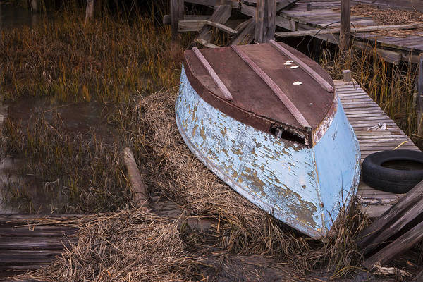 Photograph - Blue Boat by Tom Singleton