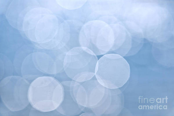 Out Of Focus Wall Art - Photograph - Blue Bokeh Background by Elena Elisseeva