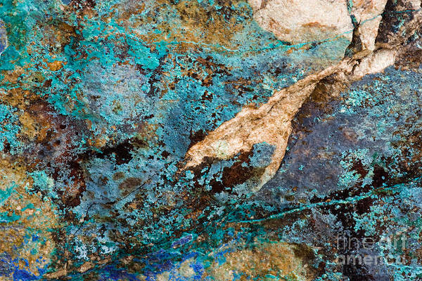 Photograph - Blue Boulder Abstract by Chris Scroggins