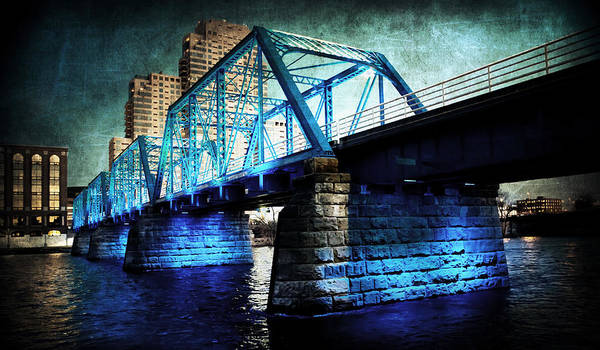 Blue Bridge Art Print