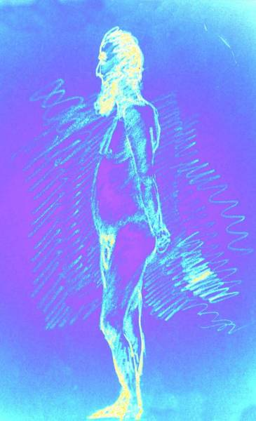 Sexuality Mixed Media - Blue Brooder by Genio GgXpress