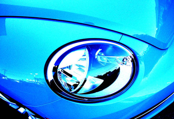 Volkswagen Kafer Photograph - Blue Bug by Gabriel Diaz