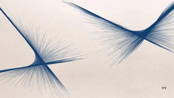 Mixed Media - Blue Butterflies by Marian Palucci-Lonzetta