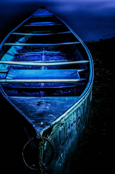 Photograph - Blue Canoe by Michael Arend