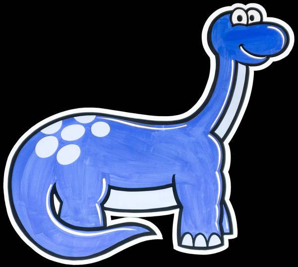 Digital Art - Blue Cartoon Dinosaur  by Photographic Art by Russel Ray Photos