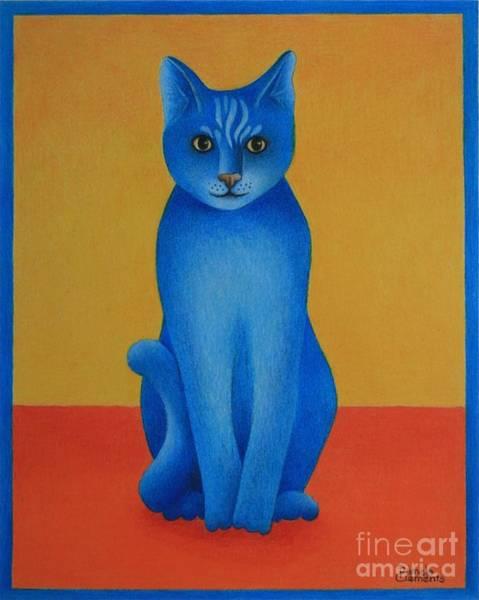 Painting - Blue Cat by Pamela Clements