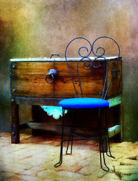 Misson Photograph - Blue Chair by Barbara Chichester