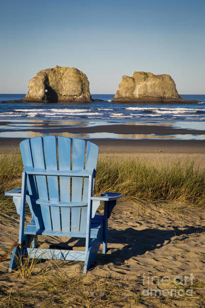 Rockaway Photograph - Blue Chair II by Brian Jannsen