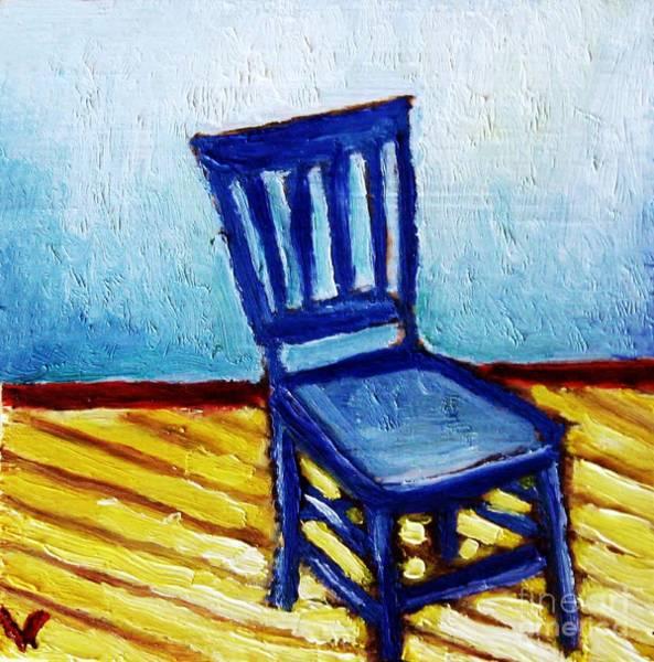 Wall Art - Painting - Blue Chair by Venus