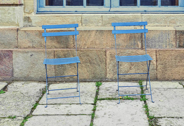 Wall Art - Photograph - Blue Chairs 1 Stockholm Sweden by Marianne Campolongo