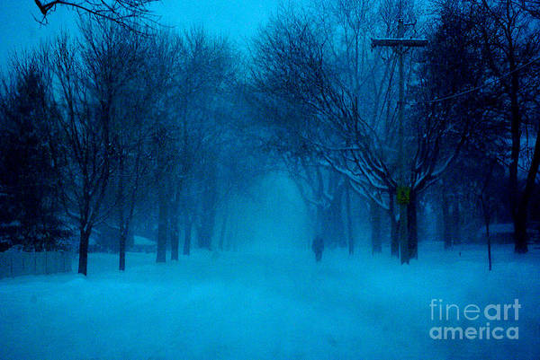 Photograph - Blue Chicago Blizzard  by Frank J Casella