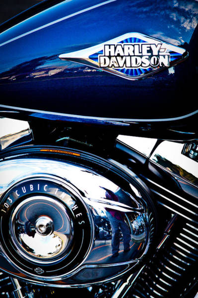 Photograph - Blue Chopper by David Patterson