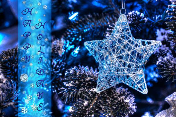 Photograph - Blue Christmas II by Shelley Neff