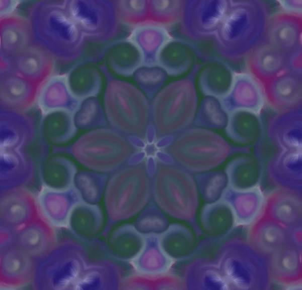 Digital Art - Blue Circle Mandala by Karen Buford