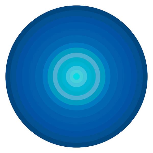Wall Art - Painting - Blue Circles by Frank Tschakert